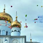 Говорят, что шары летели в форме двух крыльев...