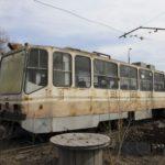 Трамваи 71-402 «Спектр» 2002-2004 годов выпуска в мае 2017 года. Фото Leonid Tuitkov